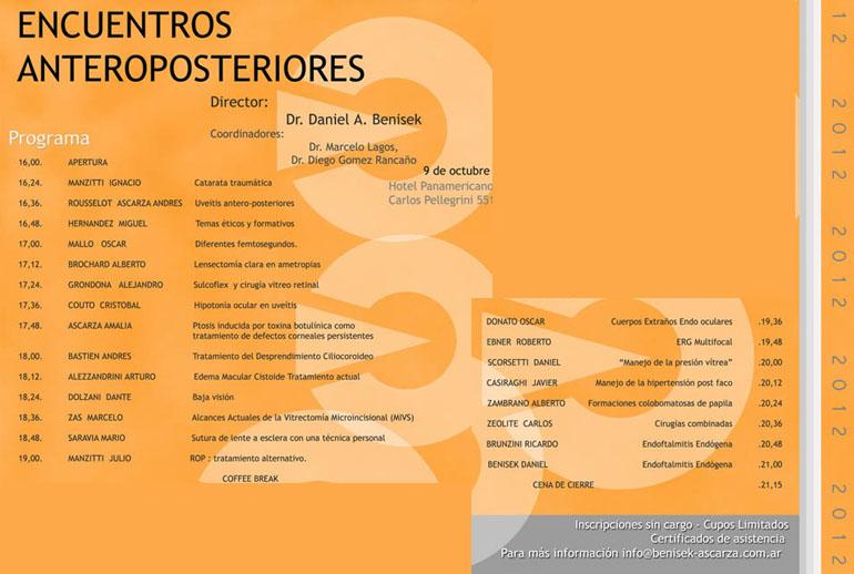 Encuentros Anteroposteriores 2012